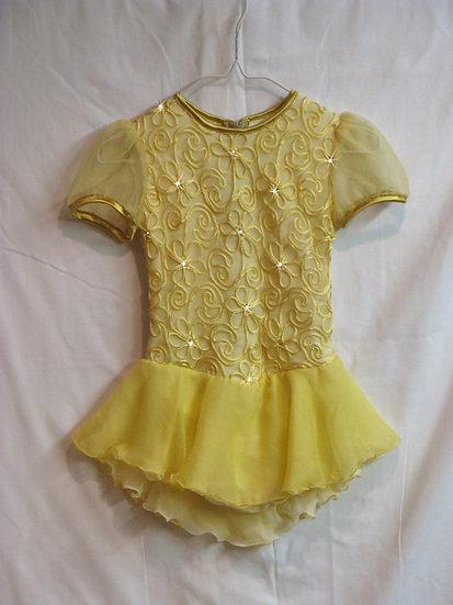 Yellow Soutache Skating Dress with Swarovskis ($214 USD)