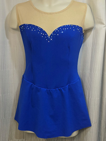 Cobalt Blue Skating Dress w/ Rhinestones ($116 USD)