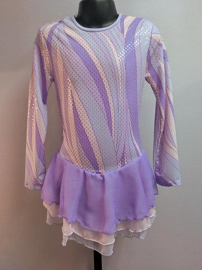 Pink/Purple Skating Dress with Chiffon Skirt ($110USD)