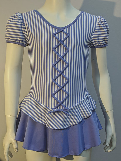 Periwinkle Blue & White Striped Skating Dress($83 USD)