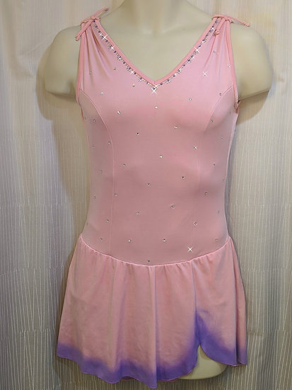 Pink Sleeveless Skating Dress with Airbrushed Skirt ($165 USD)