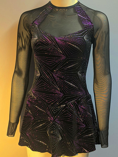 Black Sparkle Velvet Skating Dress ($116 USD)