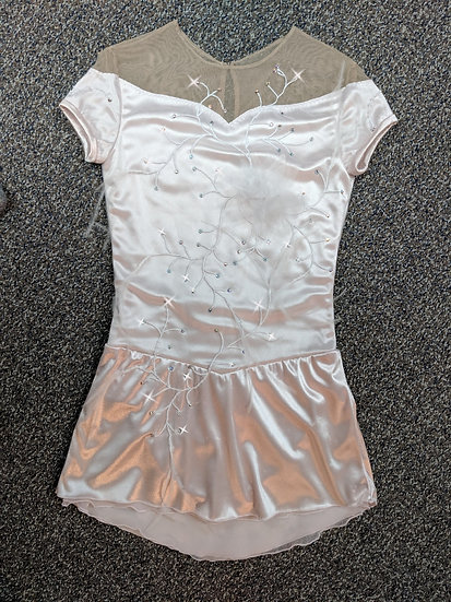 Pale Pink Satin and Lace Skating dress with Swarovskis ($226 USD)