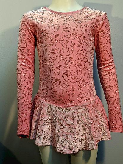 Pink Sparkle Velvet Skating Dress ($39 US)