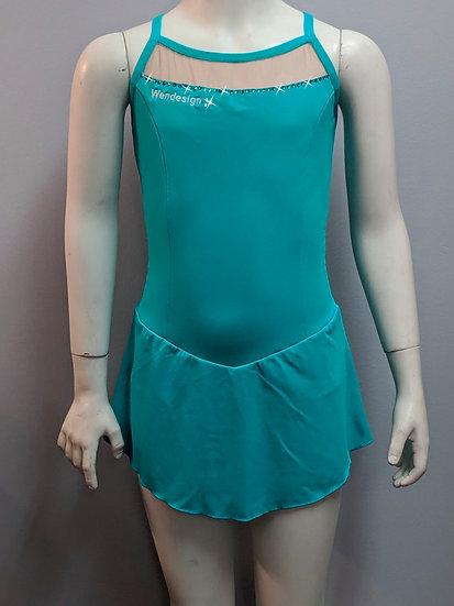 Jade Skating Dress with Mesh cutout and Swarovskis ($36 USD)