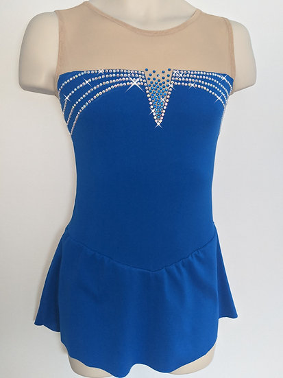 Capri Blue Skating Dress with Rhinestones ($244 USD)