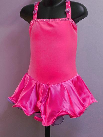 Hot Pink Velvet and Lilac Skating Dress w/Swarovskis ($96 USD)