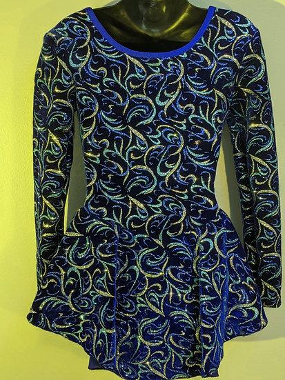 Royal Blue Sparkle Velvet Skating Dress ($39 US)