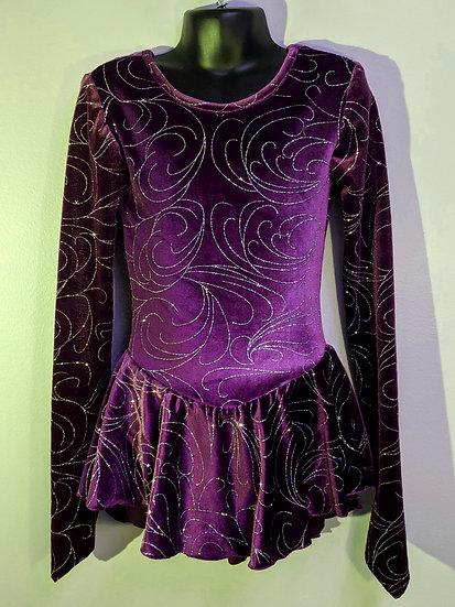 Purple Sparkle Velvet Skating Dress ($39 US)