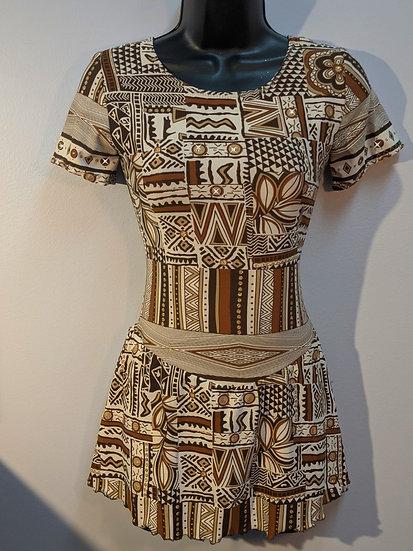 Brown/Beige/Gold Skating Dress with Swarovskis ($39 US)