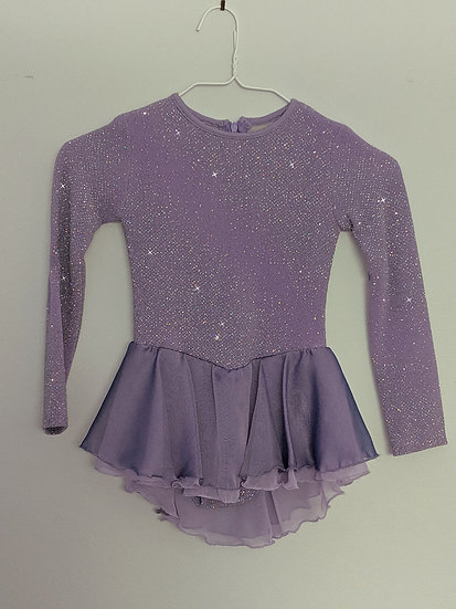 Sparkly Lilac Skating Dress with Chiffon Skirt ($75 USD)