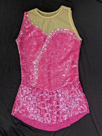 Fuchsia Burnout Velvet with Rhinestones  ($233 USD)