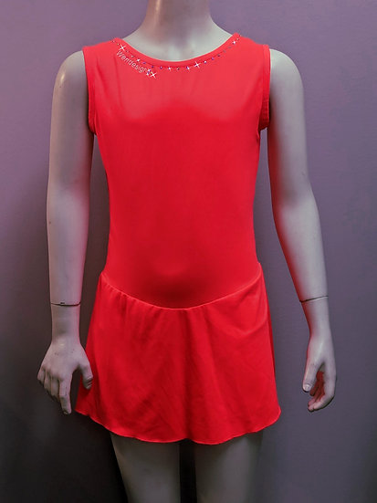 Bright Coral Skating Dress with Swarovskis ($36 USD)