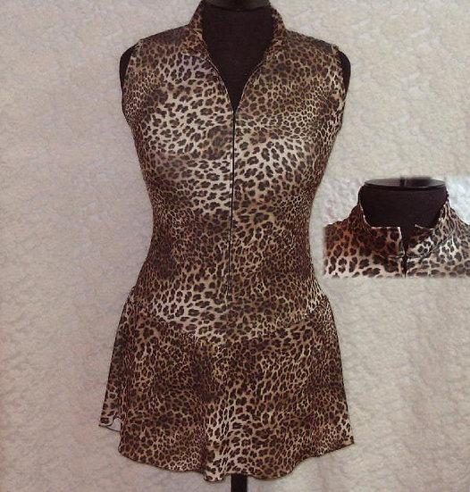 Brown/Black Animal Print Skating Dress ($87 USD)
