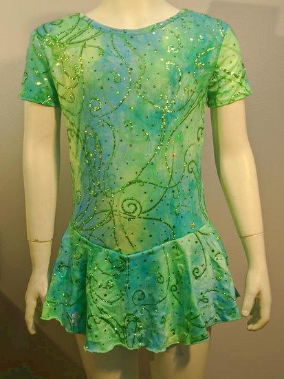 Turquoise/Blue/Green Sparkle Skating Dress($39 US)