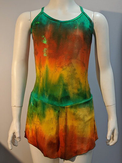 Orange, Green & Gold Skating Dress($62 USD)