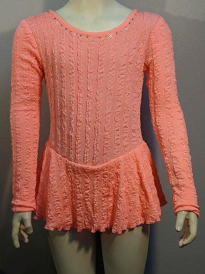 Bright Coral Skating Dress with Swarovskis ($39 US)