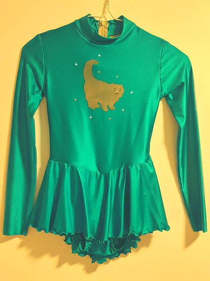 Jade Green Skating Dress with Rhinestones ($49 USD)