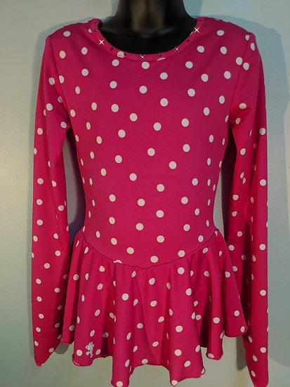Fuchsia and White Polka Dot Skating Dress ($39 US)