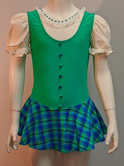 Green and Royal Blue Plaid Skating Dress ($130 USD)