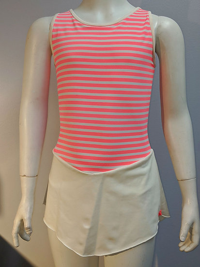 Coral and Cream Striped Skating Dress ($47 USD)