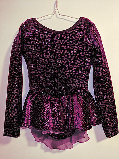 Deep Magenta Sparkle Velvet and Mauve Skating Dress ($64 USD)