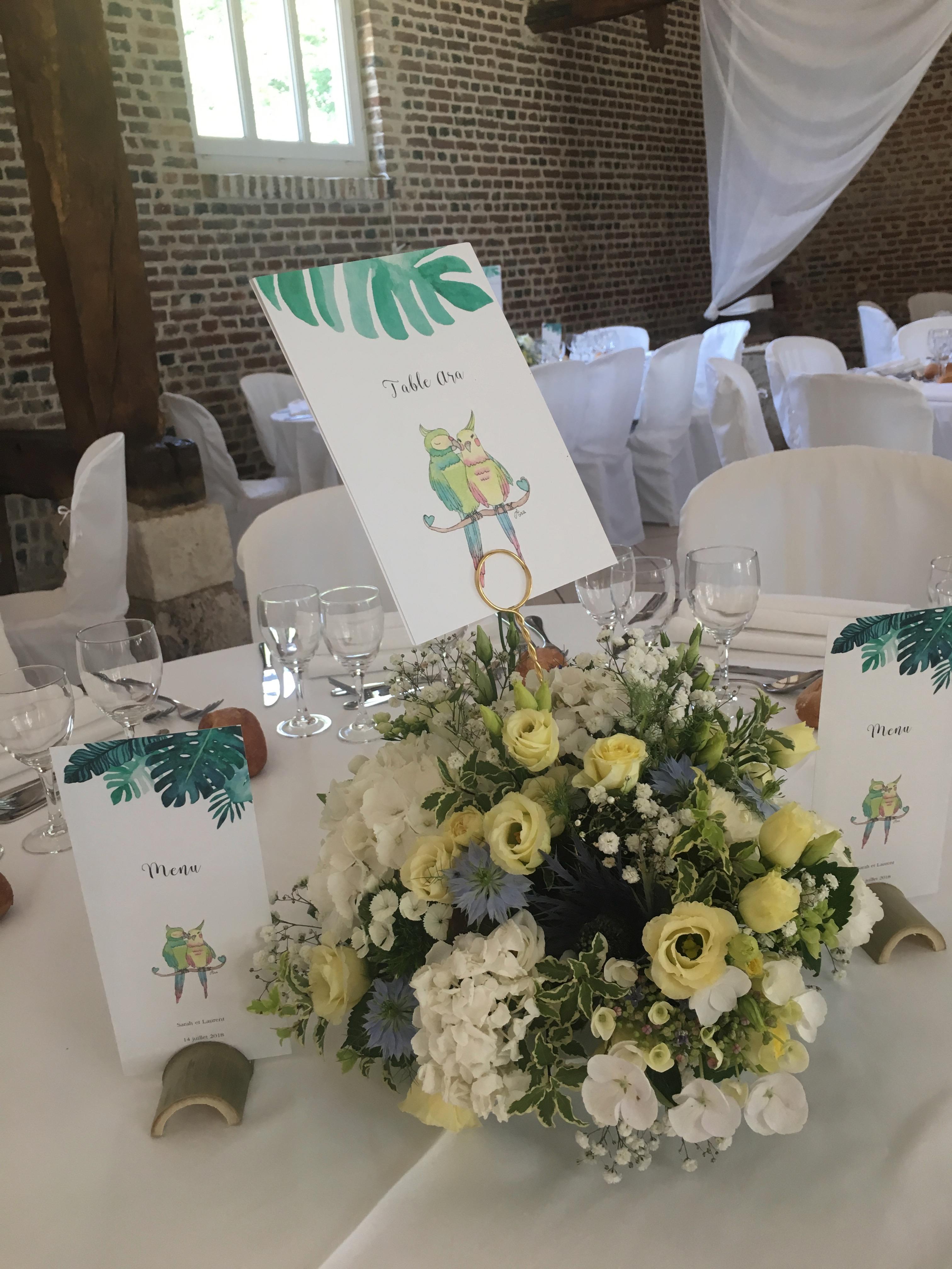 table des mariés Aras