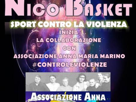 #SPORTCONTROLAVIOLENZA. Al via la nuova collaborazione della Nico Basket