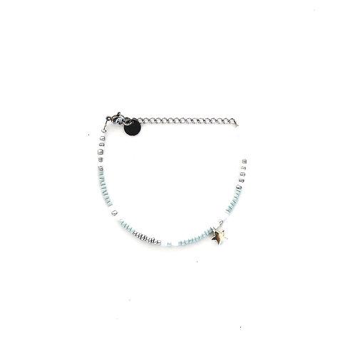 blue star bracelet silver