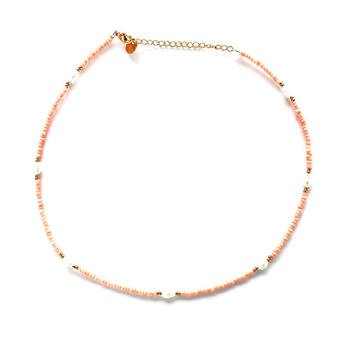 chic necklace peach gold
