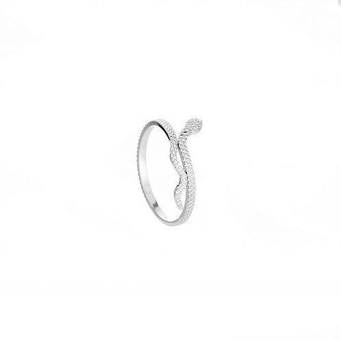 Small snake ring silver