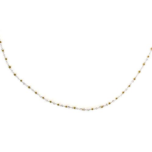 kaki dot necklace silver
