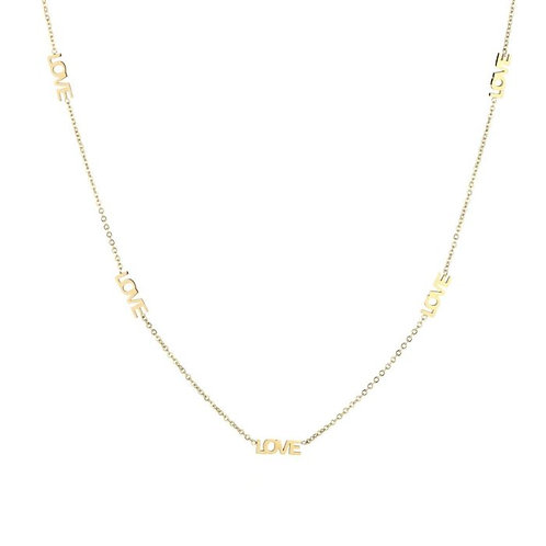 Lots of love necklace gold