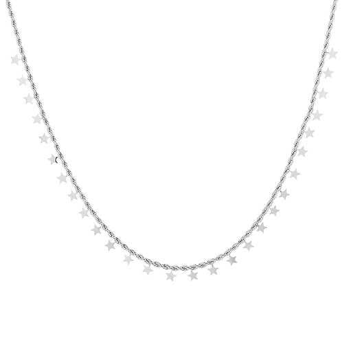 full stars necklace silver
