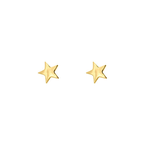 mini star earrings gold