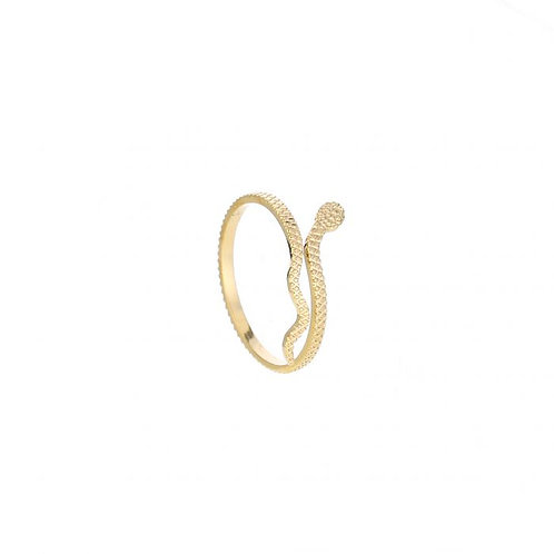 Small snake ring gold