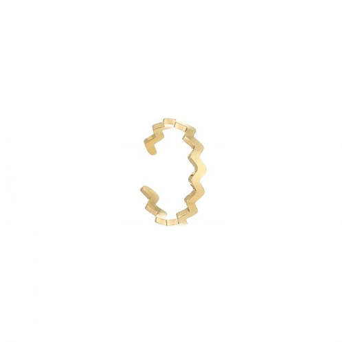 Zigzag ring gold