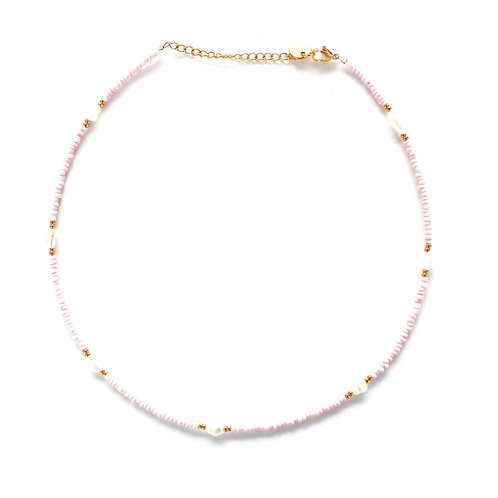 chic necklace rose gold