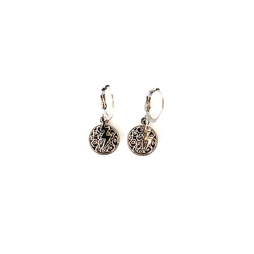 panther-thunder earrings silver