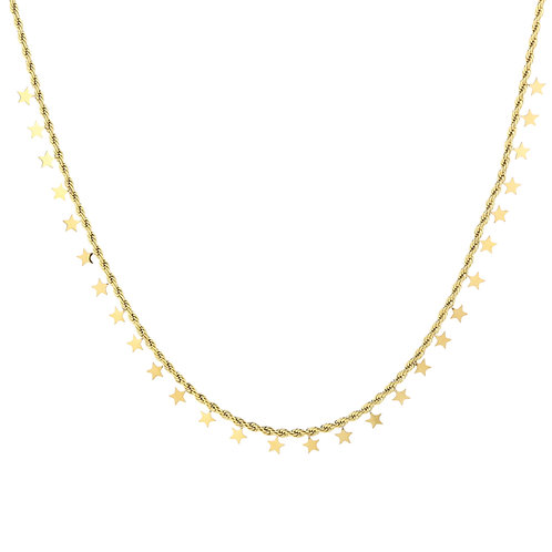 full stars necklace gold