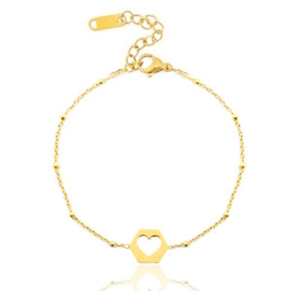 out hart silver bracelet gold