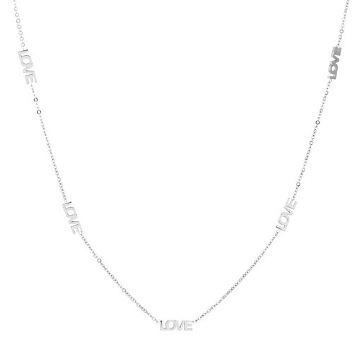 Lots of love necklace silver