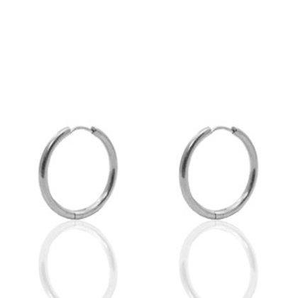 hoop earrings silver