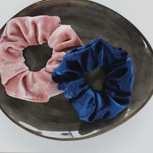 scrunchie donkerblauw