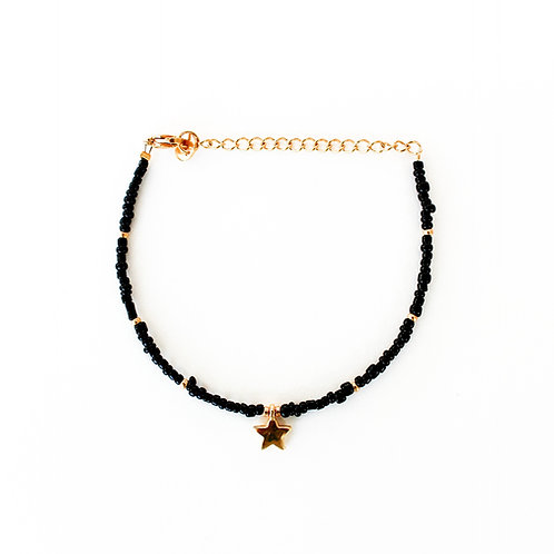 black star bracelet gold