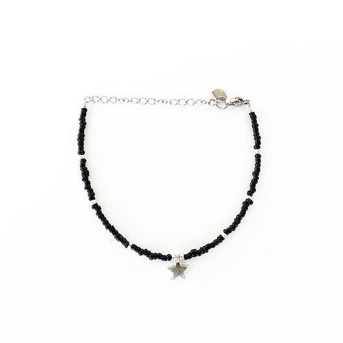 black star bracelet silver