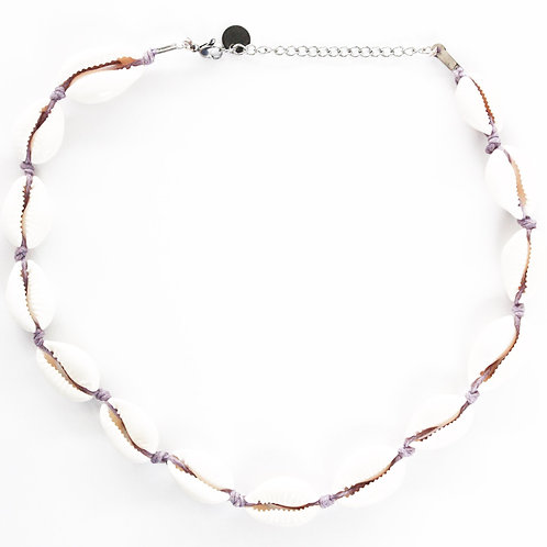 lila shell necklace