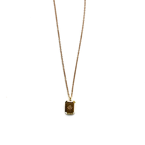 star tag necklace gold