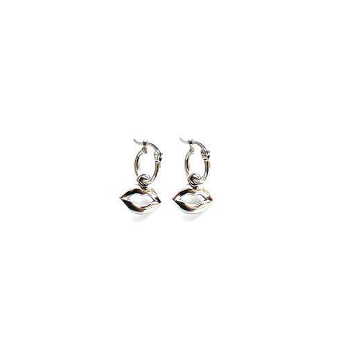 lip hoops silver