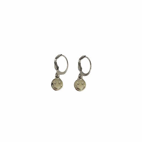 Smiley earrings silver
